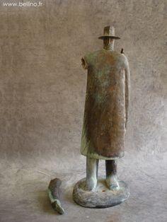 Le bronze de Folon avant restauration