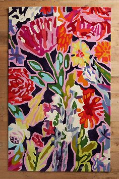 Anthropologie Deconstructed Bouquet Rug