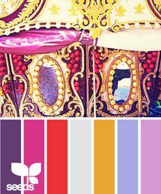 Design Seeds - Carousel Color palette for Bohemian Dream Cottage