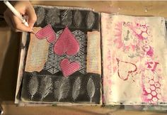 ART JOURNALING WITH DISTRESS PAINT & STENCILS | DIY,