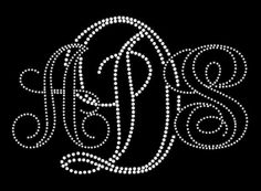 9 inch x 6 inch Monogram 3 letter   You by FashionMommyBoutique, $17.00