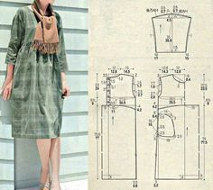 Amazing Sewing Patterns Clone Your Clothes Ideas. Enchanting Sewing Patterns Clone Your Clothes Ideas. Japanese Sewing Patterns, Easy Sewing Patterns, Clothing Patterns, Dress Patterns, Make Your Own Clothes, Diy Clothes, Patron Vintage, Sewing Blouses, Dress Tutorials