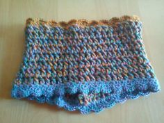 Bufanda tipo braga de hilo de colores #trapillo #DIY #crochet #bufanda