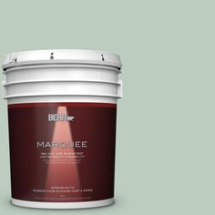 BEHR MARQUEE 5 gal. #MQ3-49 Jade Tinge One-Coat Hide Matte Interior Paint