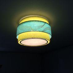 Custom Ceiling Fixture / Mid Century Modern 3 Tier Fiberglass Lamp Shade / Hand Made Atomic Lamp Shade / Custom Vintage Lighting Style Custom Lamp Shades, Modern Lamp Shades, Custom Lighting, Vintage Lighting, Unique Lighting, Ceiling Fixtures, Ceiling Lights, Light Fixtures, Shabby Chic Lamp Shades