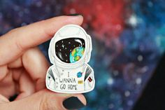 Astronaut Brooch by Mild Foxes. Hey, I found this really awesome Etsy listing at https://www.etsy.com/listing/287753085/astronaut-brooch