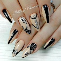 27 Lovely Designs for Almond Nails You Won't Resist ❤️ Almond Nails with Rhinestones and Studs picture 3 ❤️ Many women choose almond nails as this shape is pretty and goes well with a huge number of nail designs. You can find some cute nail art here. https://naildesignsjournal.com/almond-nails-designs/ #nails #nailart #naildesign #almondnails