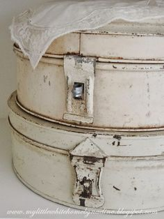 Old pie/cake tins from a bakery.