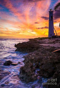 Oahu Lighthouse Photograph
