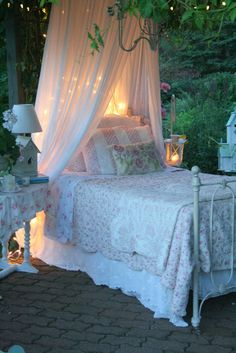 for sleeping beauty ... I would love a bed you could roll outside when you wanted to ...