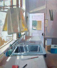 Carole Rabe 'Yellow Dish Towel', 24x30