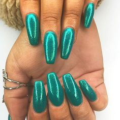Tapered square acrylics by our angel of the day glittery GOALS! Ready for the festivities with this sparkling mani! Blue Nails, Swatch, Salons, Manicure, Sparkle, Nail Art, Day, Glasgow, Acrylics