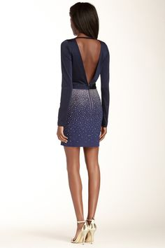 Wow Couture | Rhinestone Embellished Long Sleeve Dress | Nordstrom Rack