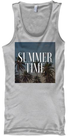 #tshirt #tank #summer #clothes #clothing Summer Time Sport Grey
