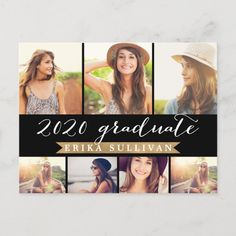 Shop 2020 Graduation Script Photo Collage Party Holiday Postcard created by NBpaperco. Personalize it with photos & text or purchase as is! Graduation Photos, Graduation Announcements, Photo Grid, Postcard Invitation, Graduation Party Invitations, Graduation Parties, Invites, Multi Photo, Holiday Postcards