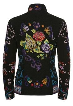 Ivko Cardigan - multicoloured      clothing length: mid-length     correct fit: normal     Fastening: Zip fastening     outer fabric material: 100% wool     Article number: VK121I01J-802 back view