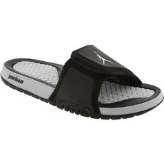 Jordan Hydro 2 Sandals in black and pure platinum. $49.99