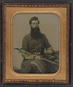 Captain George W. Hackworth of Co. F, Virginia Cavalry Regiment, in Uniform with Sword -- The Virginia Cavalry began the war as a group of independent companies of horse from the Shenandoah Valley, organized into a regiment by J. Civil War Books, Civil War Art, Confederate States Of America, America Civil War, War Image, Civil War Photos, Civilization, American History, Sword