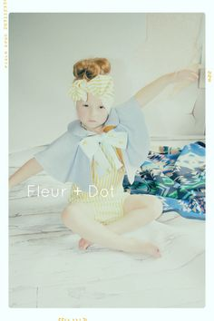 The Blue Cinnamon Girls Peter Pan Collar and Bow Linen and Cotton Cape Spring Summer Collection by Fleur and Dot via Etsy