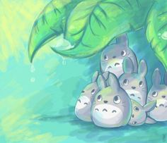 Cute lovely little Totoros