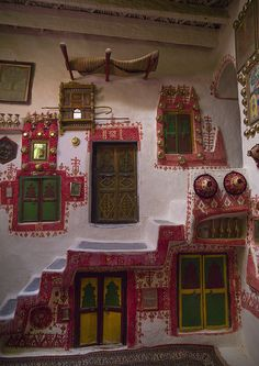 Traditional Berber House Decoration In The Old Town, Ghadames, Libya