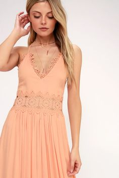 33f19b272029 There s no doubt that the Lulus This is Love Blush Pink Lace Maxi Dress is a
