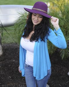 """Hanging On"" Cardigan-Turquoise"