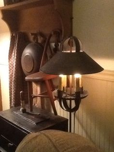 Tin floor lamp