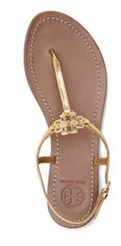 Tory Burch logo sandals