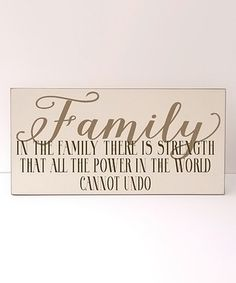 'Family Power' Wall Sign