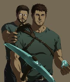 Herobrine and Steve