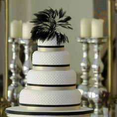 miss dotty four tier wedding cake by delovely cakes | notonthehighstreet.com