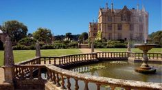 Montacute House and Fountain in the North Garden ---Estate where portions of 'Sense and Sensibility' with Emma Thompson was filmed.
