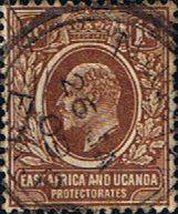 British East Africa and Uganda 1904 King Edward VII SG 34 Fine Used Scott 31 Other KUT Stamps HERE