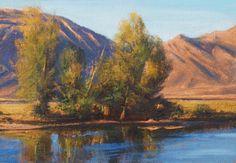 SOLD I Cody Afternoon I 5x7 I Dix Baines I Fine Artist Original Oil Paintings I Mountains I www.dixbaines.com