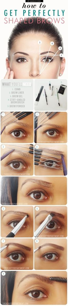 Perfectly Shaped Brows   Step-By-Step Tutorial for Perfect Brows