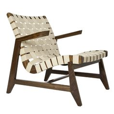 The modern style of this wooden lounge chair is the perfect laid-back look for a beach house. | $1,545