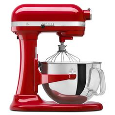 KitchenAid KP26M1XER Empire Red Professional 600 6-quart Bowl Lift Stand Mixer  @Overstock - Cook like a professional chef with this professional red Kitchenaid 600 mixer. The six-quart mixer features a soft-start function that minimizes splatter and an automatic shut off http://www.overstock.com/Home-Garden/KitchenAid-KP26M1XER-Empire-Red-Professional-600-6-quart-Bowl-Lift-Stand-Mixer/4491685/product.html?CID=214117 Add to cart to see special price