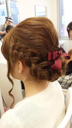 可愛い編み込みアップ|hair space COCO 松戸店のヘアスタイル