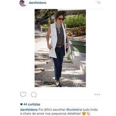 Regram @danifeldens. A catarinense que divide seu tempo entre marido, trabalho e viagens incríveis ficou ainda mais charmosa de #coleteria.  A gente adorou o click! #coleteria sempre. #coletâneamundo #positano #alfaiataria #colete #coletes #vest www.coleteria.com.br