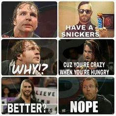 Funny Af Memes, Wwe Funny, Funny Facts, Wwe Quotes, Wrestling Memes, Wwe Raw And Smackdown, Wwe Dean Ambrose, Balor Club, The Shield Wwe