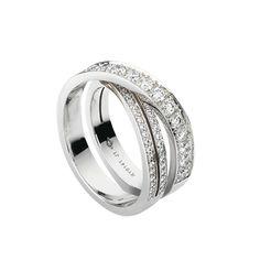 Paris Nouvelle Vague ring - White gold, diamonds - Fine Rings for women - Cartier