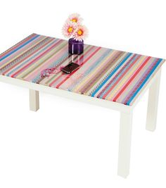 #DIY Upcycled Coffee Table | Use Washi Tape to create your own designs | Supplies available at Joann.com