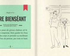 France's mass transit asks visitors to please be courteous. #illustration