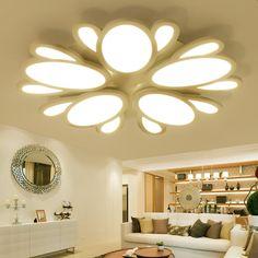 modern flushmount ceiling lights living room bedroom lighting acrylic light home design plafonnier lamparas techo lamp ceiling #Affiliate