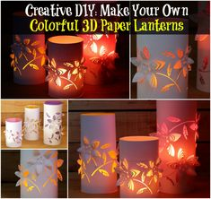Creative DIY: Make Your Own Colorful 3D Paper Lanterns