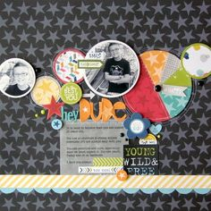 Bella Blvd Lucky Starz collection. Hey Dude layout by DT member Nicole Nowosad