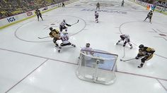 ECF, Gm5: Phil Kessel positions himself in front and pots Sidney Crosby's spectacular no-look backhand pass for a power-play goal