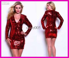 Sequin Red Dress