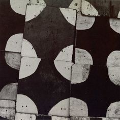 Aaron Siskind I love the wabi sabi quarter circles in the corners and the monochrome colors.  This would make an amazing quilt!